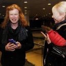 Dave Mustaine and Pamela Casselberry attend the GRAMMY Gift Lounge during the 60th Annual GRAMMY Awards at Madison Square Garden on January 27, 2018 in New York City - 454 x 366