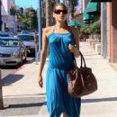 Eva Mendes - Blue Dress Candids, September 26 2007