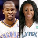 Kevin Durant and Monica Wright