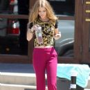 AnnaLynne McCord shooting 90210 at Fleming's Steakhouse in El Segundo, CA (August 13)