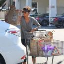 Halle Berry goes grocery shopping at Bristol Farms in West Hollywood, California on April 5, 2014