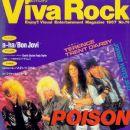 Bobby Dall, Bret Michaels, C.C. Deville, Rikki Rockett - Viva Rock Magazine Cover [Japan] (January 1988)