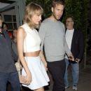 Taylor Swift With Boyfriend Leaves Giorgio Baldi Restaurant