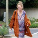 Rebecca Gayheart in Long Dress and Sweater in Los Feliz