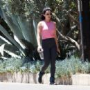 Lucy Hale – Out for a hike in Los Angeles