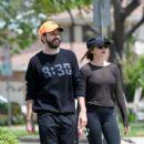 Elizabeth Olsen in Tights with boyfriend Robbie Arnett in Los Angeles - 454 x 541