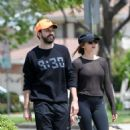 Elizabeth Olsen in Tights with boyfriend Robbie Arnett in Los Angeles