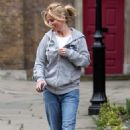 Geri Halliwell Leaving St. John Church In Hampstead, April 19 2010