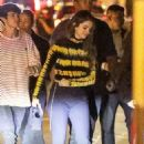 Selena Gomez on a celebration party with her team in West Hollywood