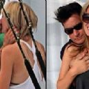 Brett Rossi and Charlie Sheen - 454 x 210