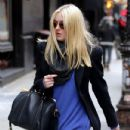 Dakota Fanning was spotted walking through the SoHo neighborhood of Manhattan, February 27. The actress is currently attending college in New York City