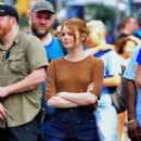 Emma Stone – Films 'Billy on the Street' set in New York City - 454 x 557