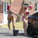 Jemma Lucy and Laura Alicia Summers in Bikini – Car Washing in Manchester - 454 x 446