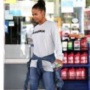 Christina Milian at a gas station in Beverly Hills - 454 x 680