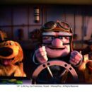 (L-R) Dug (voiced by Bob Peterson), Carl Fredricksen (voiced by Edward Asner), Russell (voiced by Jordan Nagai). ©Disney/Pixar. All Rights Reserved.