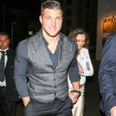 Tim Tebow And Demi-Leigh Nel-Peters Outside Egyptian Theatre In Hollywood - 450 x 600