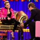 Miley Cyrus at Alan Carr Show
