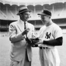 Mickey with Yankee Broadcaster Mel Allen