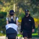 Sophie Turner and Joe Jonas – Out for a walk with their new baby Willa in Los Angeles - 454 x 681