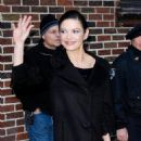 """Catherine Zeta-Jones - Visiting The """"Late Show With David Letterman"""" In New York City, 18 January 2010"""