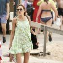 Rebecca Judd in Black Bikini on holiday in Noosa - 454 x 695