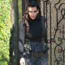 Kim Kardashian: leaves her home for a day of shooting one of her shows on E! in Los Angeles