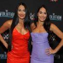 Nikki and Brie Bella – WWE Evolution in New York - 454 x 357