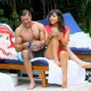Roxanne Pallett and boyfriend Jason Carrion were seen at a pool party in Manhattan - 454 x 311