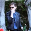 Kate Mara is spotted out and about with a friend in Los Angeles on March 31, 2016