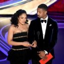 Tessa Thompson and Michael B. Jordan at the 91st Annual Academy Awards - Show - 454 x 327