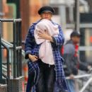 Kate Hudson with her baby Rani in New York