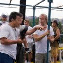 Jackie Chan and Director Harald Zwart on the set of Columbia Pictures' THE KARATE KID. Photo By: Jasin Boland. ©2009 Columbia TriStar Marketing Group, Inc. All Rights Reserved. - 454 x 303