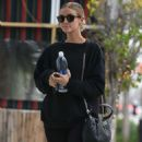 Ashlee Simpson heading to the gym in LA