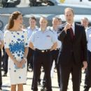 Prince William and Catherine, Duchess of Cambridge visit RAAF Amberley where they viewed a flypast on arrival, during their tour of Australia and New Zealand