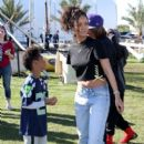 Rihanna attends the DIRECTV Super Fan Tailgate at Pendergast Family Farm on February 1, 2015 in Glendale, Arizona