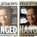 Left, the cover of the Daily News, Aug. 13, 2014; right, the Village Voice's version - 454 x 291