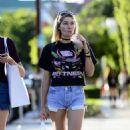 Jessica Hart in Denim Shorts out in LA - 454 x 534