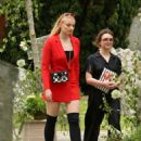 Sophie Turner and Maisie Williams – Arriving at Kit Harington and Rose Leslie wedding in Scotland