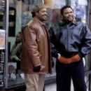 Ice Cube and Anthony Anderson in MGM's Barbershop - 2002