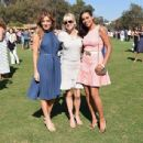 Actors Sasha Alexander, Anna Faris and Rosario Dawson attend the Fifth-Annual Veuve Clicquot Polo Classic at Will Rogers State Historic Park on October 11, 2014 in Pacific Palisades, California