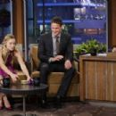 "Ryan Lochte and Kristen Bell appearing on ""The Tonight Show with Jay Leno"" (August 16)"