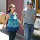 Jennifer Love Hewitt And Ross McCall Walk On The Streets Of Burbank, June 28 2008 - 454 x 629