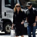 Gwyneth Paltrow with a bodyguard shopping in NY