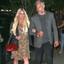 Jessica Simpson in Leopard Print Dress – Out in New York City - 454 x 637