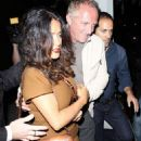 Halle Berry with Olivier Martinez, Salma Hayek and Francois-Henri Pinault at The Little Door (August 15)