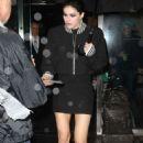 Alexandra Daddario in Short Dress Leaving her hotel in NYC - 454 x 681