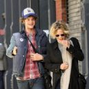 Meg Ryan and her son Jack Quaid out and about in New York City on October 04, 2015 - 454 x 528