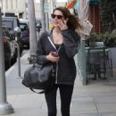 Ashley Greene at nails salon in Beverly Hills