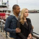 Charles Michael Davis and Claire Holt