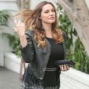 Kelly Brook At A Meeting At Chatteau Marmont Hotel In Hollywood